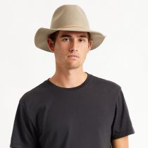 Wesley Light Tan Wool Felt Fedora Hat alternate view 6