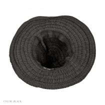 Ruche Ribbon Floppy Hat