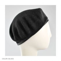 Wool Military Beret with Lambskin Band alternate view 175