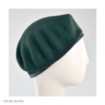 Wool Military Beret with Lambskin Band alternate view 91