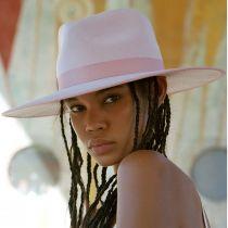 Rancher Pink Wool Felt Fedora Hat alternate view 12