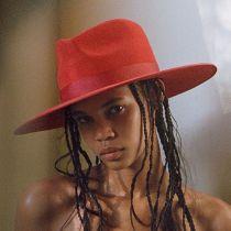 Rancher Red Wool Felt Fedora Hat alternate view 5