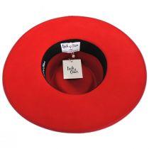 Rancher Red Wool Felt Fedora Hat alternate view 4