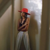 Rancher Red Wool Felt Fedora Hat alternate view 7