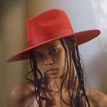 Rancher Red Wool Felt Fedora Hat alternate view 19