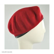 Wool Military Beret with Lambskin Band alternate view 197