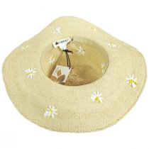 Aster Daisy Toyo Straw Swinger Hat alternate view 4