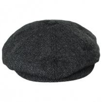 Brood Herringbone Wool Blend Newsboy Cap - Gray/Black alternate view 6