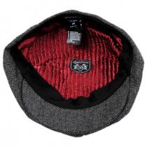 Brood Herringbone Wool Blend Newsboy Cap - Gray/Black alternate view 8
