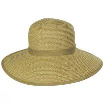 Toast Tan Toyo Straw Braid Facesaver Hat alternate view 2