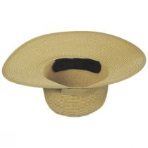 Toast Tan Toyo Straw Braid Facesaver Hat alternate view 4