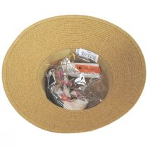 Toyo Straw Sun Hat with Print and Solid Scarves alternate view 5