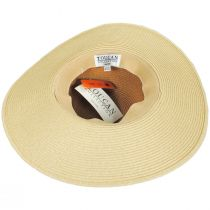 Two-Tone Toyo Straw Floppy Brim Sun Hat alternate view 4