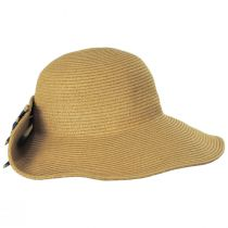 Striped Bow Off Face Toyo Straw Sun Hat alternate view 4