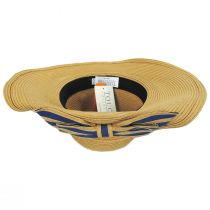 Striped Bow Off Face Toyo Straw Sun Hat alternate view 5