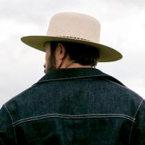 Klondike Palm Straw Open Crown Western Hat alternate view 5