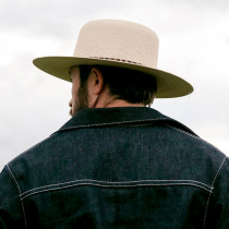 Klondike Palm Straw Open Crown Western Hat alternate view 10