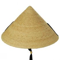 Braided Raffia Straw Pyramid Sun Hat alternate view 2
