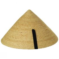 Braided Raffia Straw Pyramid Sun Hat alternate view 3