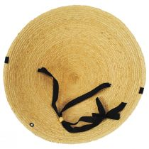 Braided Raffia Straw Pyramid Sun Hat alternate view 4
