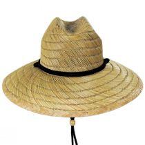 California Flag Rye Straw Lifeguard Hat alternate view 2