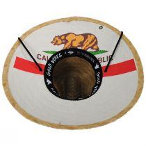 California Flag Rye Straw Lifeguard Hat alternate view 4