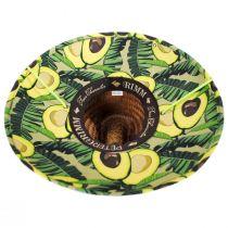 Avocado Coconut Straw Lifeguard Hat alternate view 4