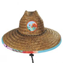 Flamingo 2 Coconut Straw Lifeguard Hat alternate view 2