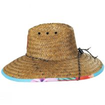 Flamingo 2 Coconut Straw Lifeguard Hat alternate view 3