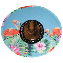 Flamingo 2 Coconut Straw Lifeguard Hat alternate view 4