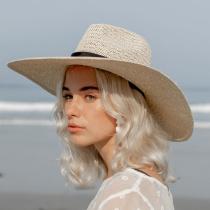 Marina Toyo Straw Wide Brim Fedora Hat alternate view 5