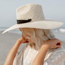 Marina Toyo Straw Wide Brim Fedora Hat alternate view 6