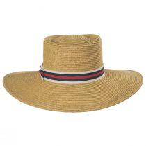 Diego Striped Band Toyo Straw Blend Boater Hat alternate view 6