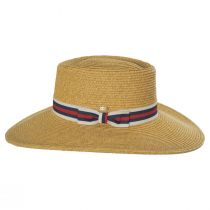 Diego Striped Band Toyo Straw Blend Boater Hat alternate view 7