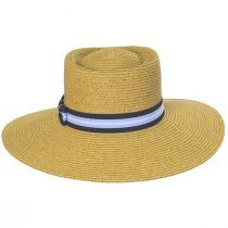 Diego Striped Band Toyo Straw Blend Boater Hat alternate view 2