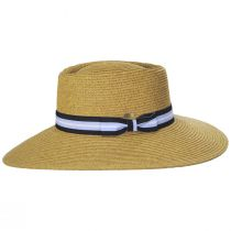 Diego Striped Band Toyo Straw Blend Boater Hat alternate view 3