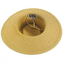 Diego Striped Band Toyo Straw Blend Boater Hat alternate view 4
