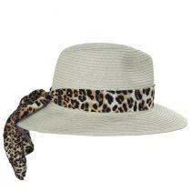 Gabon Leopard Scarf Toyo Straw Fedora Hat alternate view 7