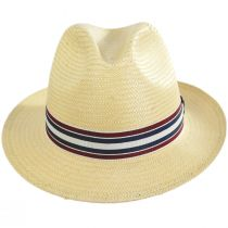 Capital Striped Band Toyo Straw Fedora Hat alternate view 2