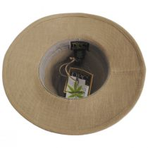 Tallulah Wide Brim Hemp Safari Fedora Hat alternate view 12