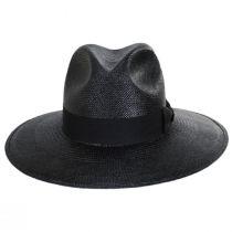 Vinard Grade 8 Panama Straw Safari Fedora Hat alternate view 2
