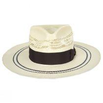 Chiron Wide Brim Bangora Straw Fedora Hat alternate view 2