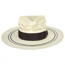 Chiron Wide Brim Bangora Straw Fedora Hat alternate view 14