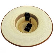 Jo Palm Straw Rancher Fedora Hat alternate view 16