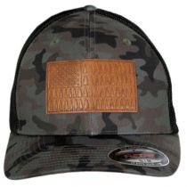 Tree Flag Camouflage Mesh Flexfit Fitted Baseball Cap alternate view 6