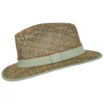 Maldives Twisted Seagrass Straw Safari Fedora Hat alternate view 7