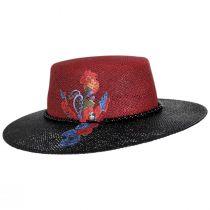 Reve 2-Tone Toyo Straw Boater Hat alternate view 3