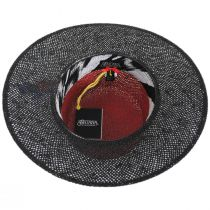 Reve 2-Tone Toyo Straw Boater Hat alternate view 4