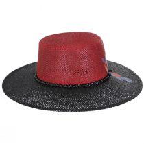 Reve 2-Tone Toyo Straw Boater Hat alternate view 6