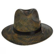 Vagabond Distressed Panama Straw Safari Fedora Hat alternate view 2